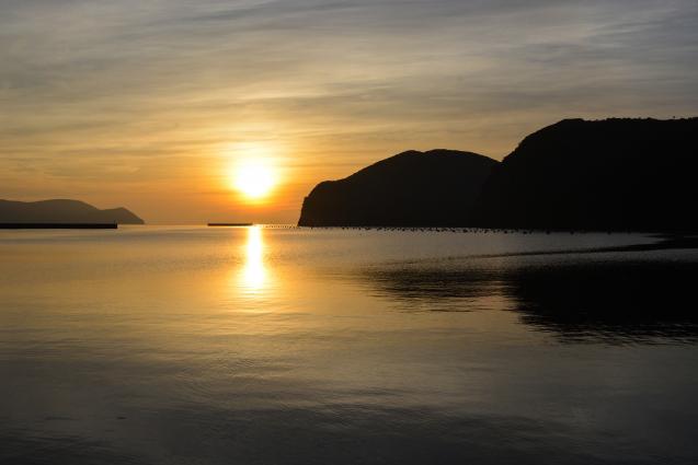 知夫里島の夕日